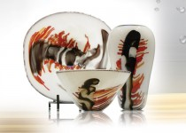 Tourbillon-assiette stiklo gaminiai