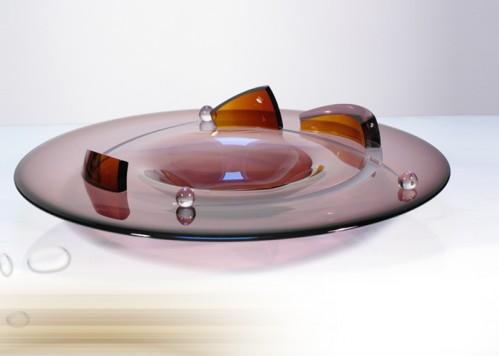 stiklo gaminiai Lėkštė - Judesys