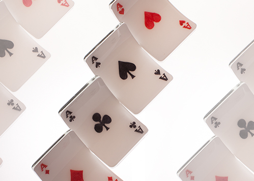 stiklo gaminiai Pokeris