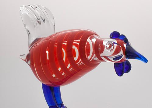 stiklo gaminiai Cock I