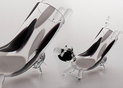 stiklo gaminiai Lying cow