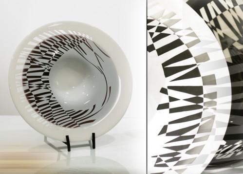 stiklo gaminiai Rūkas-lėkštė