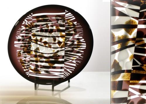 stiklo gaminiai Hoarfrost - plate