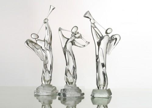 stiklo gaminiai Violinist