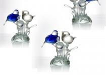 Birds with apple stiklo gaminiai
