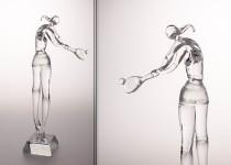 Tenisas-moteris stiklo gaminiai