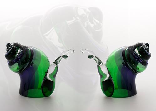 stiklo gaminiai Snail