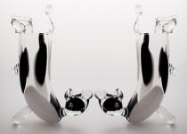 Stovinti karvė stiklo gaminiai