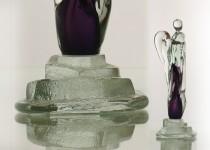 Stilizuoti angelai III stiklo gaminiai