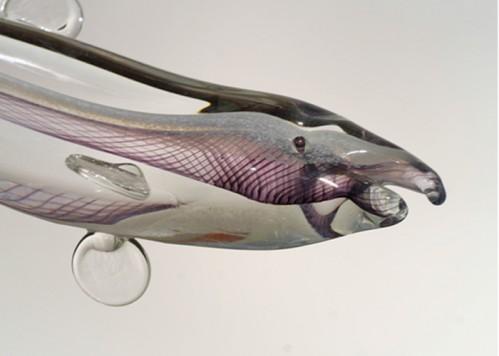stiklo gaminiai Žuvis judesyje