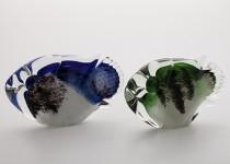 Stilizuota žuvis stiklo gaminiai