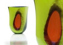 Klasika su plėmais - vaza stiklo gaminiai