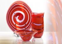 Escargot-vase stiklo gaminiai