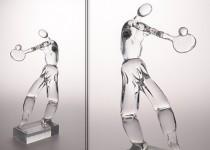 Tenisas-vyras I stiklo gaminiai