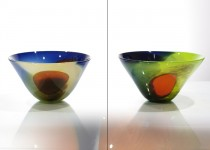 Klasika su plėmais - indas  stiklo gaminiai