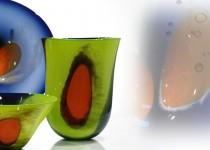 Klasika su plėmais - lėkštė  stiklo gaminiai