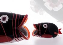 Žuvis V stiklo gaminiai