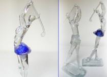 Golfas-moteris stiklo gaminiai