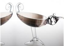 Linksmi paukščiai stiklo gaminiai