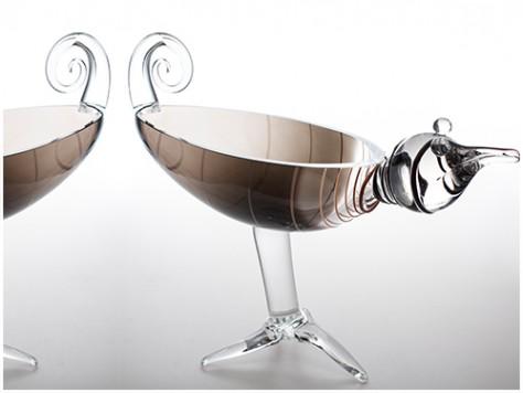 stiklo gaminiai Linksmi paukščiai