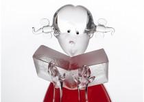 Girl with a book stiklo gaminiai