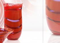 Sraigė - vaza stiklo gaminiai