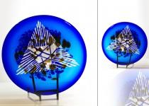 Šerkšnas lll - lėkštė  stiklo gaminiai
